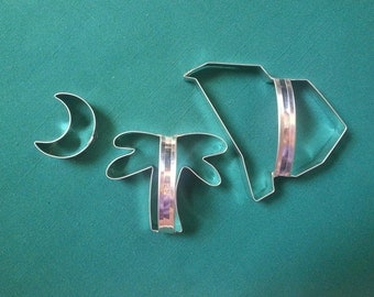 South Carolina Cookie Cutter Set Three Piece Handmade By West Tinworks