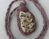 Barite and Hemp Wrap Necklace - Natural Bohemian Hippie