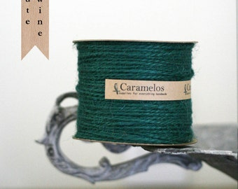 100 yds of Emerald Green Jute Twine