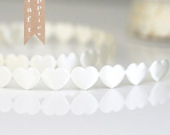 Large Puffy Heart Trim 2 yards 2 colors to choose from