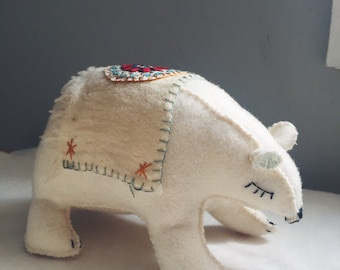 folk art polar bear