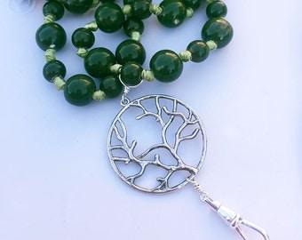 ID Lanyard Necklace, Green Ceramic Lanyard Necklace