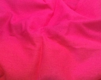 100% LINEN Fabric - HOT PINK - 1 Yard