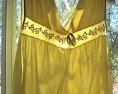 Vintage Mid Century Nylon Nightgown Pistachio Green