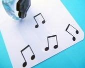 Tiny Musical Note Rubber Stamp / Calender Planner Stamp -  Handmade rubber stamp by BlossomStamps