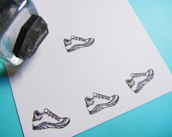 Tiny Running Shoe Rubber Stamp / Gym Shoe / Sneaker / Planner Rubber Stamp  - Handmade by BlossomStamps