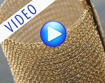 ONLINE Video tutorial bracelet pattern for YoolaCuff Plus PDF tutorial - how to create a wire crochet cuff bracelet using a crochet hook