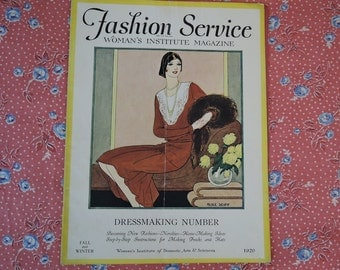 Fashion Service Magazine Fall & Winter 1929 - The Woman's Institute of Domestic Arts magazine for latest sewing and fashion trends