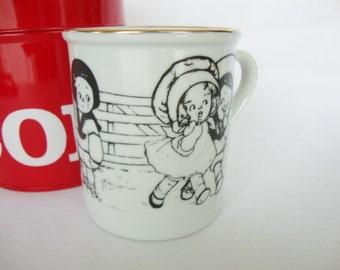 vintage campbells soup kids mugs tea cup signed