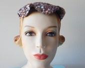 Vintage 1960's shimmering sequin Hat