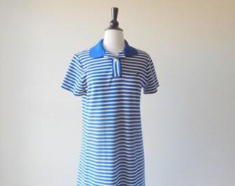 60's Bumble Bee Dress // Vintage 1960s Knit Dress