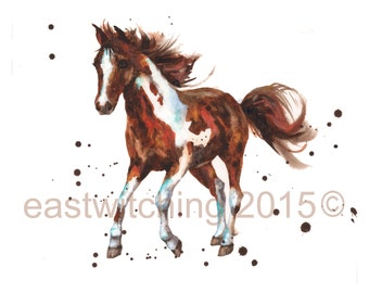Horses, , horse lover gift, farmyard, horse painting, horse house,