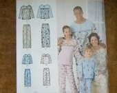 Vintage McCall's Child's, Teen's and Adults Pajamas Pattern #2481 Uncut All Sizes