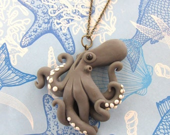 Ebb and flow octopus necklace