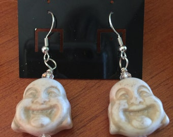 Buddha Earrings The Blessing of Practice Achievement Wisdom Virtue Fortune and Dignity