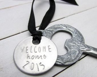 Housewarming Gift | Welcome Home Key Ornament | New House Token | Personalized Charm | Hostess Gift | Eriadesigns