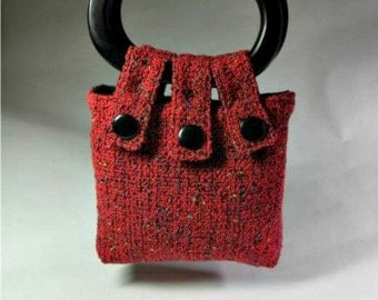 Handwoven Purse - RED SUNRISE