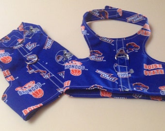 Bronco Boise State Dog Harness Vest Small Dogs Chihuahua Clothes Yorkie Apparel