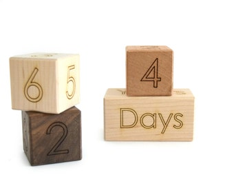 Age Blocks Photography Prop - Wood Blocks Baby Shower Gift - Baby Age Blocks - Maternity Photo Prop - Baby Photo Prop - Nursery Decor -BL12