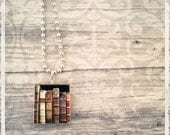Scrabble Art Pendant - Books - Scrabble Game Tile Jewelry - Customize - Choose Your Style