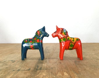 Wee Swedish Dala Horse in Blue