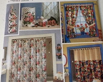 Shower Curtain Bathroom Accessiries Pattern uncut, Home Decor