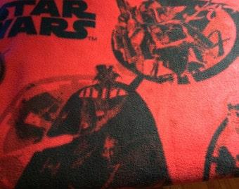 Fleece Red Blanket with Stars War Print