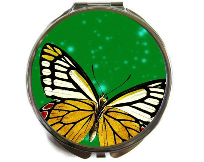 Butterfly Compact Mirror Pocket Mirror Large