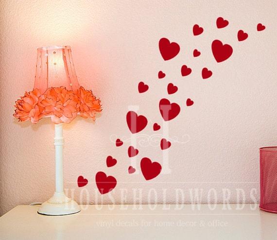 Valentines decor Heart Sticker Wall Decals Happy Valentines