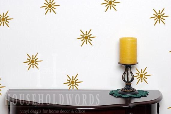 Gold Star Wall Decor: Gold Modern Star Wall Decals Ceiling Decals Retro Star Burst