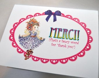 Fancy Nancy Thank You Card Personal Stationery
