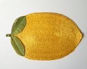 Set of 9 Woven Straw Yellow Lemon Placemats