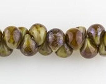 10 Opaque Tortoiseshell Teardrop Handmade Lampwork Beads -13mm (22821)