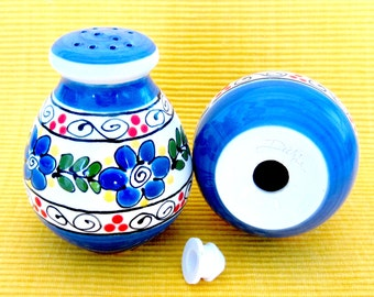Bright Blue Salt & Pepper Shakers