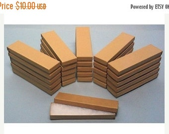 Summer Stock Up Sale 20 Pack Kraft Cotton Filled Presentation Jewelry Boxes 8 X 2 X 1 Inch Size