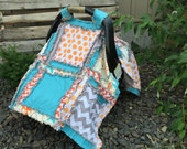 Car Seat Cover PATTERN that can be used as a Baby Blanket, Rag Quilt, and Nursing Cover, SEWING Instructions