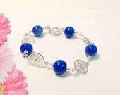 Flower Petal Jewelry, Memorial Beads, Memorial Jewelry, Funeral Flower Jewelry, Memorial Gift Idea,Gates of Charleston Bracelet
