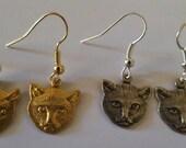 Cat earrings, Cat, Cat heads, Cat jewelry, MsFormaldehyde, Catcon, Cat lady, Kitty, Kitty earrings