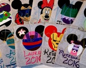 5+ Custom Disney Vacation Unisex ADULT or KIDS unisex Shirts with Character Name and Year (6 weeks)