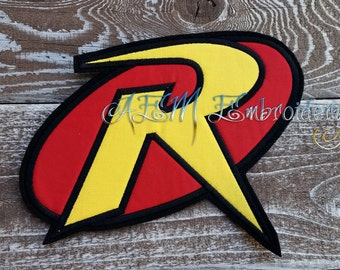 Robin Applique Logo Patch Yellow and Red