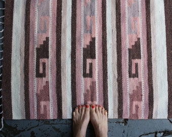 vintage southwestern woven rug wall hanging