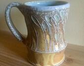 Yellow Carved Mug