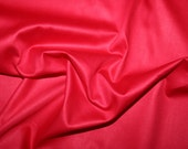 Red cotton satin fabric 0.50 metre - made in Europe