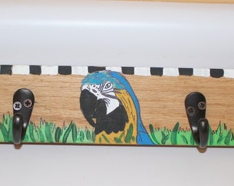 Blue & Gold Macaw Parrot Mug Rack