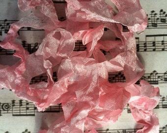 Crinkle ribbon Spun Sugar hand dyed ribbon seam binding crinkly stained ribbon TeamHaha Hafair OFG ADO Nooga Norga Mha Ellijay