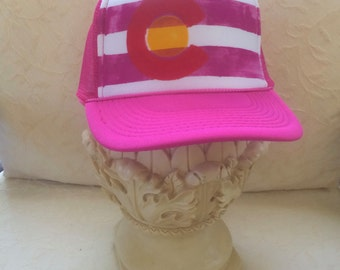 Pink Colorado Trucker Cap