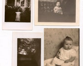 Eight Antique Photographs Children Snapshots Great for Altered Art Projects