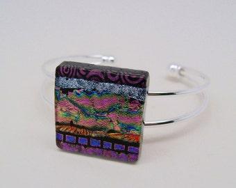 Dichroic cuff bracelet