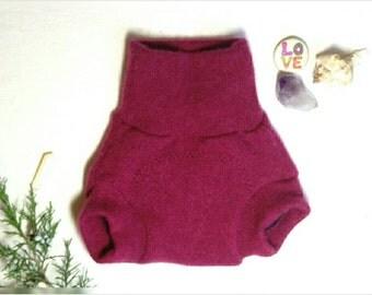 XSmall Mauve Cashmere Wool Soaker Diaper Cover / Pink Purple