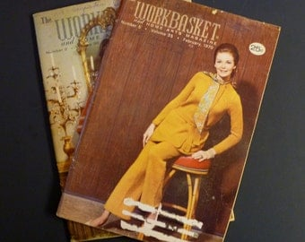 The Workbasket and Home Arts Magazine - Vintage - 1970 - February and November